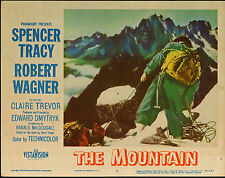 The Mountain orig 1956 lobby card movie poster Spencer Tracy/Mountain Climbing