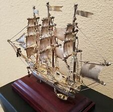 "Vintage Sterling Silver Model Ship - Hand Made in Mexico 8.5"" X 5.5"" inches"