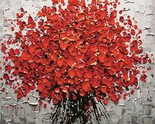 Paint By Numbers Kit Red Flower Van-Go 40Cmx50Cm Canvas