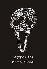 Iconic Skull Diamante Rhinestone Crystal Iron On Transfers - XRST094