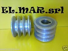 PULEGGIA diametro esterno 63 foro 24 mm 3 gole MOTORE ELETTRICO sez.A