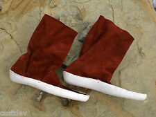 Women's Dark Red or White ZUNI BOOTS THICK SOLE MOCCASINS
