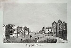 Venice Venezia Italy Italia the Great Channel Old Copperplate 1835