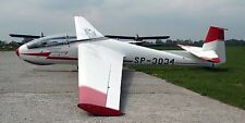 SZD Bocian Two Seater Class Sailplane Aircraft Wood Model Free Shipping