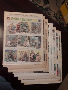 9 1942 PRINCE VALIANT full newspaper pages