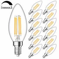 SHINE HAI Candelabra LED Filament Bulbs Dimmable 40W Equivalent 2700K Warm White