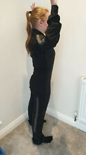 Black Skydiving FS Jump Suit With Grey Grippers