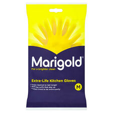 MARIGOLD KITCHEN GLOVES EXTRA LIFE KITCHEN RUBBER WASHING UP GLOVE YELLOW MEDIUM