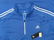 Adidas Golf Men's French Terry 1/4 Zip Pullover Sweatshirt Carolina Blue 2XL