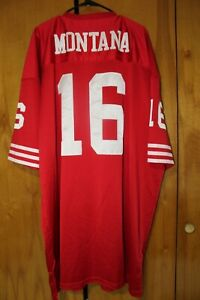 VTG SAN FRANCISCO 49ers 1989 Mitchell & Ness Throwback  FOOTBALL JERSEY Size 60