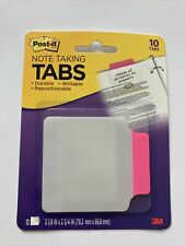 Post It Transparent Note Taking Tabs Pink 10pk