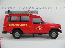 """Busch 43516 Toyota Land Cruiser HZJ 78 (1985) """"Falck / Service"""" 1:87/H0 NEU/OVP"""