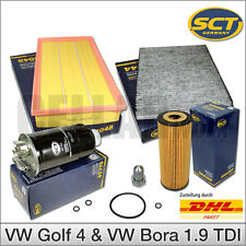 VW Golf 4 & Bora 1.9 TDI | 4-tlg. Inspektionspaket Filterset Filterpaket SCT
