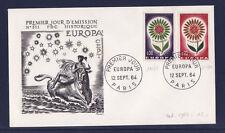 enveloppe 1er jour    paire   Europa    Paris  1964