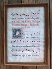 ESTATE FIND ANTIQUE DOUBLE SIDED ANITPHONAL MUSIC LEAF MANUSCRIPT
