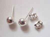 8mm Dot Ball Studs 925 Sterling Silver Stud Earrings Corona Sun Jewelry