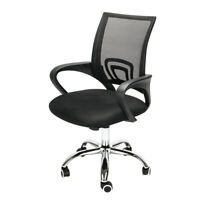 Adjustable Office Swivel Chair Mesh Back Study Chair Computer Desk Chair Black