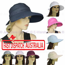 Wide Brim Sports Bowling Golf Zipper Top Zip Off Convertible Sunhat Hat Visor