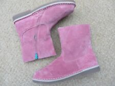 Brand New Boden Short Leather Boots in Rose Pink Suede RRP £45 Sz EU 37 / UK 4