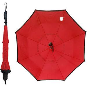 "BetterBrella Innovative Wind Proof Reverse Open/Close 41.5"" Wide Umbrella, Red"