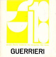 Francesco GUERRIERI - Catalogo della mostra allo SM 13