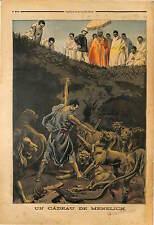 LION LIONNE  Emperor Negus Menelik II Abyssinia Ethiopia Ethiopie 1898