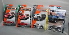 4 Different 2015-2017 Matchbox 2014 14 CHEVY SILVERADO 1500 Red Gray White Lot