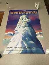 Milton Glaser I Love NY New York Winter Festival Poster Art Niagara 1982