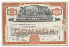 Consolidated Oil Corporation Stock Certificate