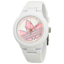 Adidas Aberdeen White with Pink Logo Dial Unisex Watch ADH3143