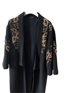 Biba Black Dress Coat Size 12