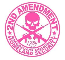 2ND AMENDMENT GUN* vinyl decal sticker Truck Diesel car hunting 4x4 funny PINK