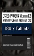 180 X osteo-prosyn vitamina K2 vitamina D3 Calcio Magnesio Zinc