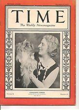 Time Magazine December 5, 1927 Geraldine Farrar