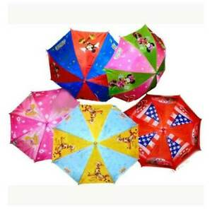 Kids Disney Character Umbrella Cars Mickey Minnie Mouse Princess Winnie Pooh