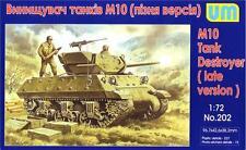 UniModels — M10 tank destroyer, late version — Plastic model kit 1:72 Scale #202