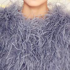 Ivory blush pink real Ostrich Feather Fur mid sleeve coat jacket bolero bridal