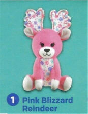 "Build a Bear 4"" Pink Blizzard Reindeer McDonald's 2015 #1 Happy Meal Toy NEW"