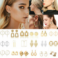 Fashion Jewelry Geometric Round Circle Dangle Drop Ear Stud Earrings For Women