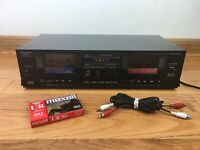 JVC TD-W10 Stereo Double Cassette Deck 1985 Made in Japan TESTED 100% BUNDLE