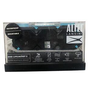 Altec Lansing iMW477 Mini Life Jacket Bluetooth Speaker Waterproof Blue/Black