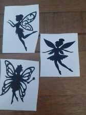 X6 Black fairy small Vinyl sticker decal Wine Bottle Wall Book glass mug