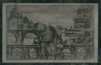STRANGE VINTAGE ITALIAN ROMAN MONEY POSTCARD - 1891 10 cent PRESTAMPED - UNUSED