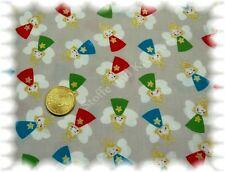 Sweet angels de Noël tissu gris 50 cm coton tissu Noël Ange glitze