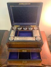 19th Century Womens Traveling Cosmetic Box Rare