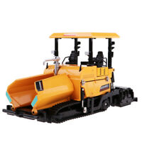 1/40 Diecast Tracked Paver Road Construction Engineering Model Toy Yellow