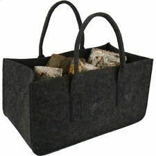 Felt Bag Dark Gray Fireplace Wood Bag Felt Basket Fire Wood Pocket Magazine Rack