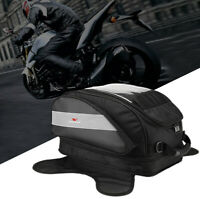 Motorcycle Tank Bag Waterproof Magnetic Motorbike Oil Fuel Storage Saddle Bag
