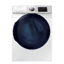 "Samsung Dv45K6500Gw 27"" White Front Load Natural Gas Dryer Nob #107641"