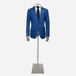 Ermenegildo Zegna Silk Jacket, Blue. Size 42 UK, 52 IT